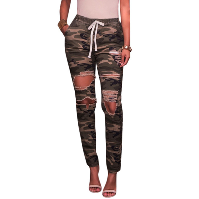 Formula A1 Camo Ripped Jeans
