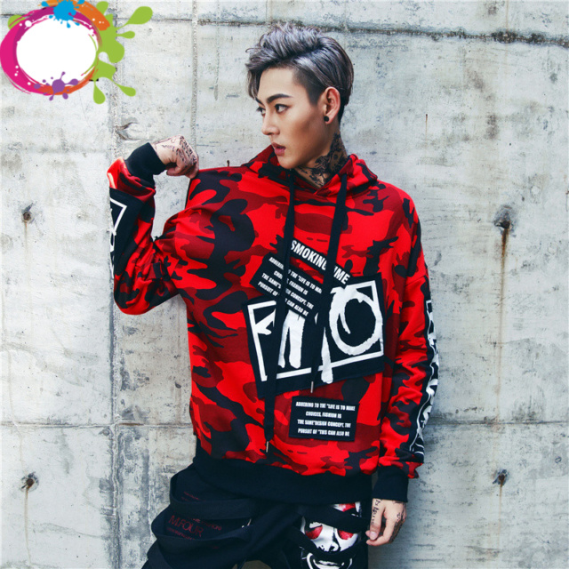 Red Camouflage Hoodie