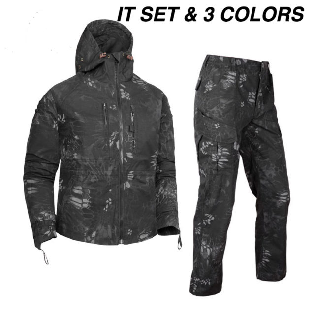 A-TARGET Military Tactical Suit Outdoor Protective Gown Set