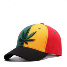 WUKE Colorful Patchwork Outdoor Casual Baseball Cap Men Women Adjustable Cotton Maple Leaf Embroidery Spring Summer Snapback Cap