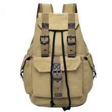 Hot A++ Quality Outdoor Travel Luggage Army Bag Canvas Hiking Backpack Camping Tactical Rucksack Men Military Backpack mochila