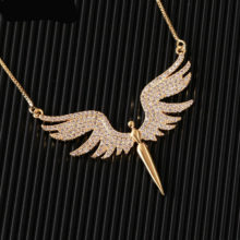 Angle Wings Gold Color Necklace